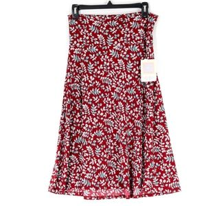LuLaRoe Women's Medium Azure A-Line Skirt Maroon